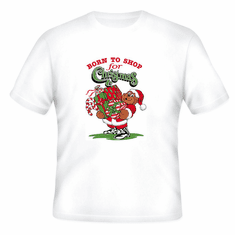 Seasonal Holiday Born to Shop for Christmas t-shirt shirt