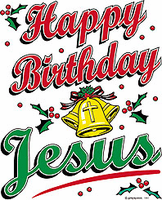 Seasonal Holiday Christmas Christian Happy Birthday Jesus shirt