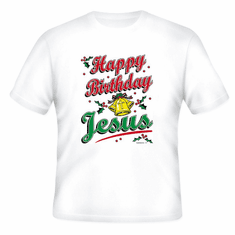 Seasonal Holiday Christmas Christian Happy Birthday Jesus t-shirt shirt