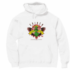 Seasonal Holiday Christmas Grinch Heart Two sizes to small hoodie hooded sweatshirt