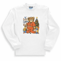 Seasonal I Love Christmas Teddy Bear long sleeve t-shirt shirt sweatshirt
