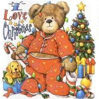 Seasonal I Love Christmas Teddy Bear shirt