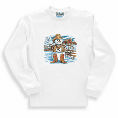 Seasonal Winter Cowboy snowman long sleeve t-shirt shirt sweatshirt