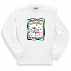 Seasonal Winter Frosty Flakes Snowman Snowmen long sleeve t-shirt shirt sweatshirt