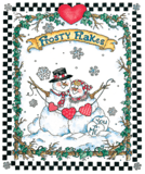 Seasonal Winter Frosty Flakes Snowmen Snowman shirt