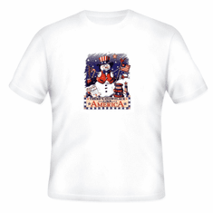 Seasonal Winter snowman patriotic There's snowplace like America t-shirt shirt