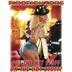 sexy firefighter shirt: Firefighters put the wet stuff on the hot stuff.