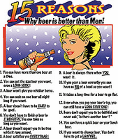 Shirt:  15 REASONS why beer is better than MEN!