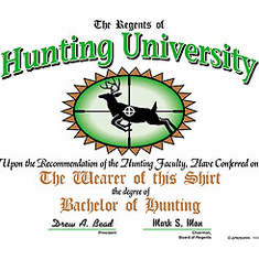 shirt: Bachelor of Hunting university