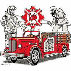 shirt firefighter firemen fire truck