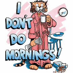 Shirt: I DON'T DO MORNINGS! (cat)