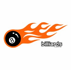 Sports Billiards pool 8 ball with flames shirt