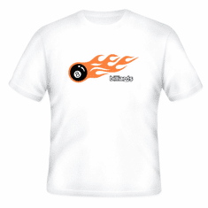 Sports Billiards pool 8 ball with flames t-shirt shirt