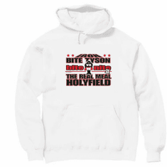 Sports Boxing Iron Bite Tyson bite nite The Real Meal Holyfield hoodie hooded sweatshirt