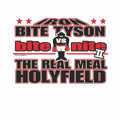 Sports Boxing Iron Bite Tyson bite nite The REal Meal Holyfield shirt