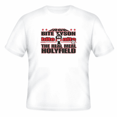 Sports Boxing Iron Bite Tyson bite nite The Real Meal Holyfield t-shirt shirt