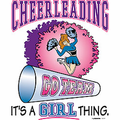 Sports Cheerleading It's a GIRL thing shirt