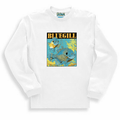 Sports Fishing Bluegill fish long sleeve t-shirt shirt sweatshirt