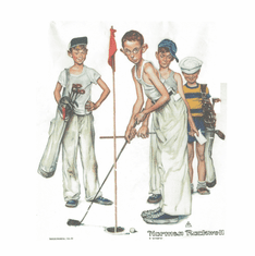 Sports Golfing Norman Rockwell picture shirt
