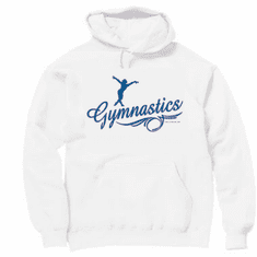 Sports Gymnastics Gymnast Silhouette hoodie hooded sweatshirt