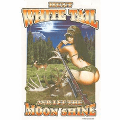 Sports Hunting Hunt Whitetail and let the moon shine sexy shirt