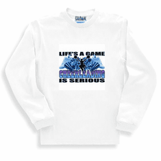 Sports Life's A Game Cheerleading is Serious long sleeve t-shirt shirt sweatshirt