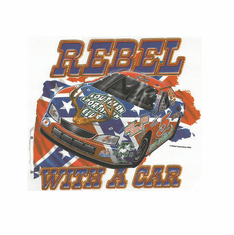 Sports Racing Rebel with a car shirt