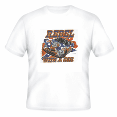 Sports Racing Rebel with a car t-shirt shirt