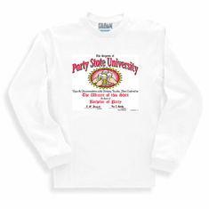Sweatshirt or long sleeve T-shirt:  Party state university beer drinking shirt