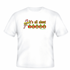 T-shirt or pocket christian christmas IT'S ALL ABOUT JESUS