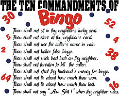 Ten Commandments of BINGO T-Shirt
