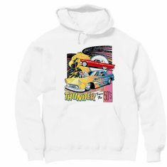 Thunder from the 50's antique car hoodie hooded sweatshirt