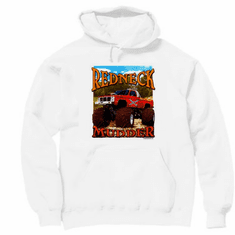 truck pullover hooded hoodie sweatshirt  REDNECK MUDDER monster truck trucking mudding 4 wheel drive
