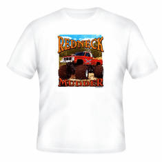 truck t-shirt REDNECK MUDDER monster truck trucking mudding 4 wheel drive