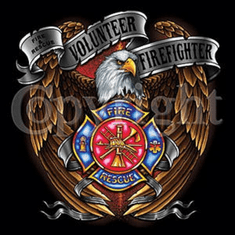 Volunteer firefighter fireman eagle fire department shirt