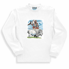 western american indian, bald eagle, buffalo sweatshirt or long sleeve T-shirt