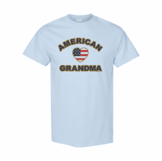 WHOLESALE 6 Pack of Family T-shirts Light Blue American Flag Grandma Grandmother