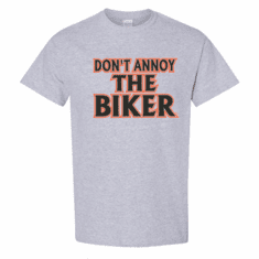 WHOLESALE 6 pack Sports Gray Gildan Biker T-shirt Don't annoy the biker