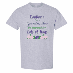 WHOLESALE 6 Pack T-shirts Family Caution I'm a Grandmother