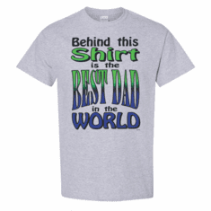 WHOLESALE 6 pack T-shirts Sports Heather Gray Family Behind This Shirt Is Best Dad In The World