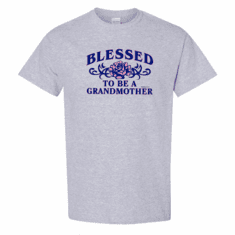WHOLESALE 6 pack T-shirts Sports Heather Gray Family Blessed To Be a Grandmother Grandma
