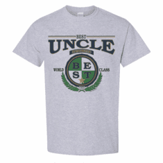 WHOLESALE 6 pack T-shirts Sports Heather Gray Family World Class Best Uncle