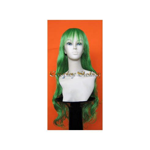 30 Inches Long Green Wavy Wig