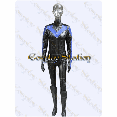 Batman Arkham City Nightwing Custom Made Cosplay Costume: High Quality!