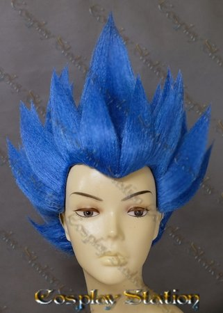 Dark Blue Vegeta Custom Made Cosplay Wig