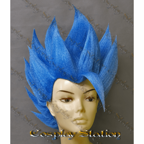 Super Broly Blue Gogeta Cosplay Wig