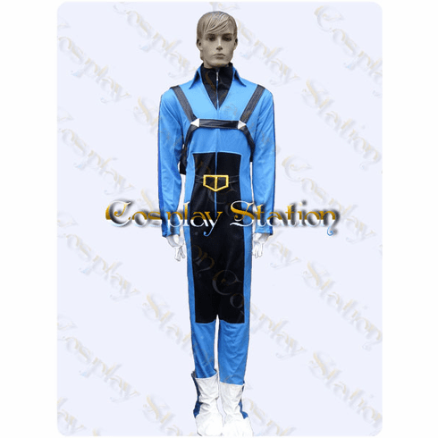 Macross Robotech Roy Fokker Flightsuit Blue Cosplay Costume
