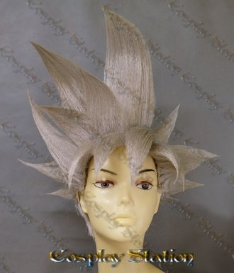 Silver Ultra Instinct Goku Custom Made Cosplay Wig