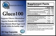 Gluco100 - Metabolic Support & Glucose Management