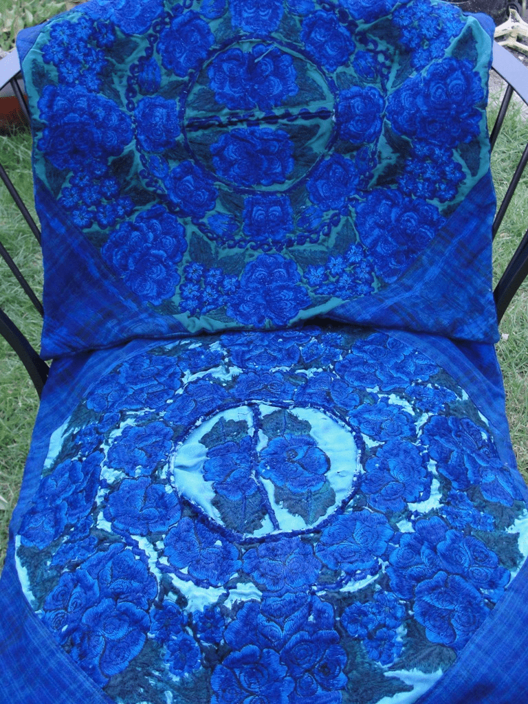 BLUE PILLOW COVER